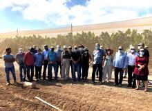 סיור מקצועי במטעי החקלאים